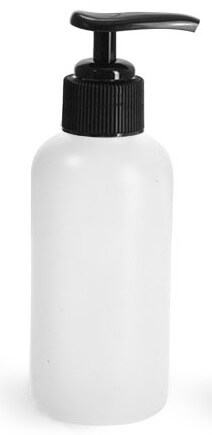 4oz Plastic Bottle w/Black Pump - Pronounce Skincare & Herbal Boutique