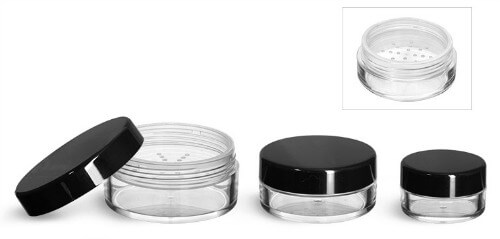 Plastic Powder Jars w/Sifters - Pronounce Skincare & Herbal Boutique