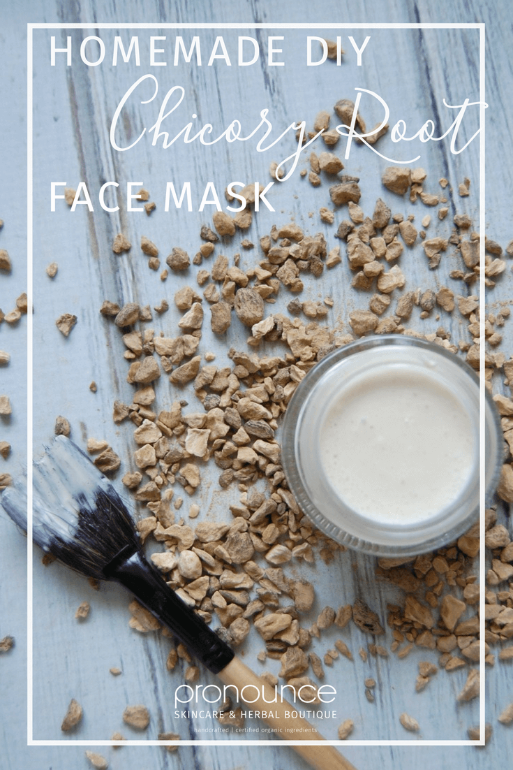 Homemade DIY Chicory Root Face Mask (collagen boosting face mask!) - Pronounce Skincare & Herbal Boutique