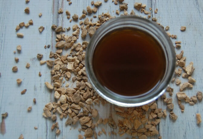 Chicory Root Decoction for DIY Chicory Root Face Mask Recipe - Pronounce Skincare & Herbal Boutique