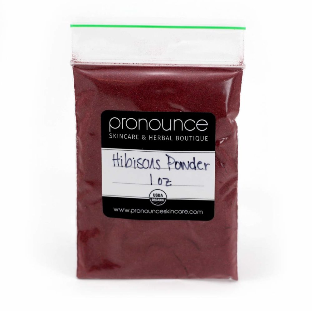 Bag of Hibiscus Powder 1oz Pronounce Skincare Herbal Boutique