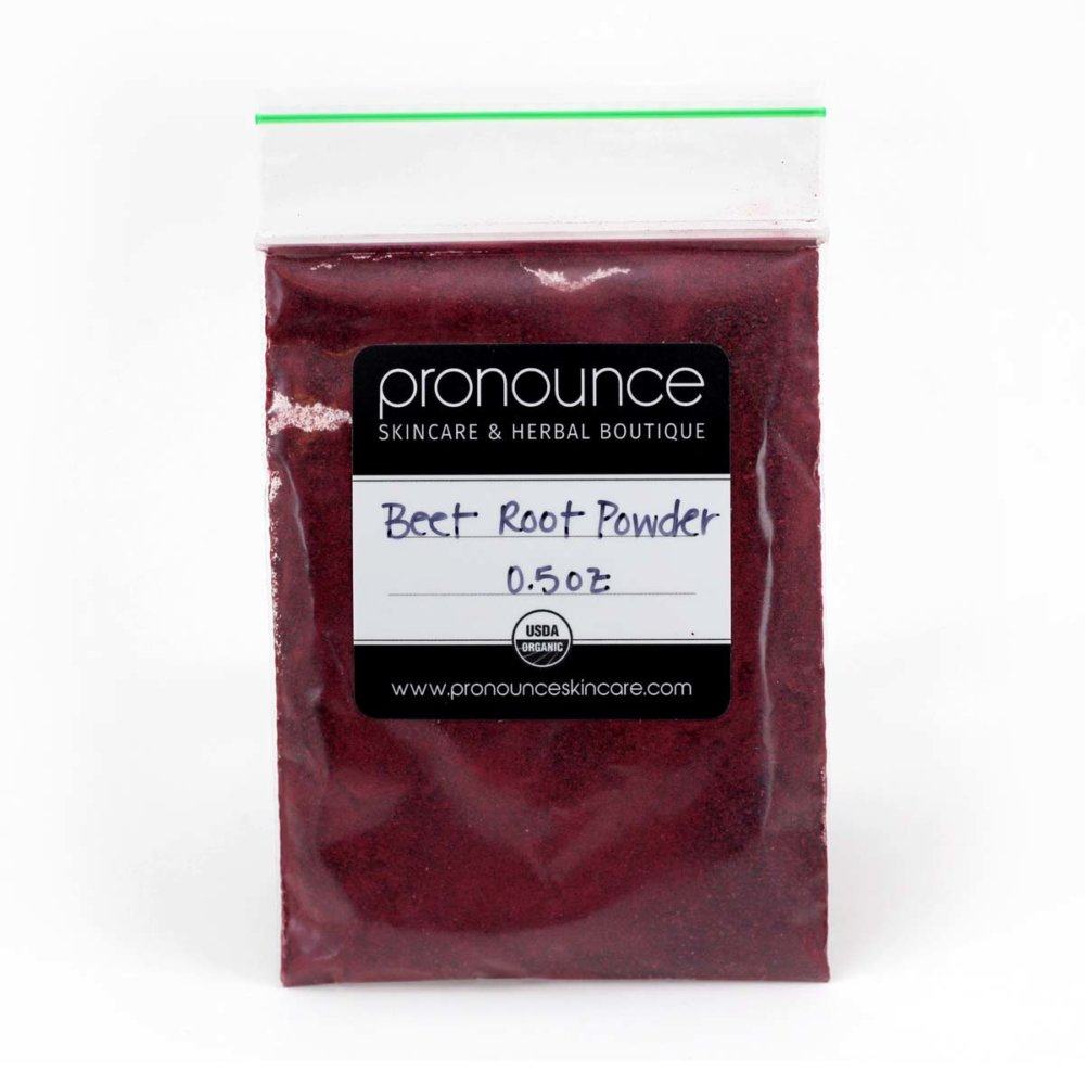 0.5 oz bag of organic beet powder -Pronounce Skincare and Herbal Boutique