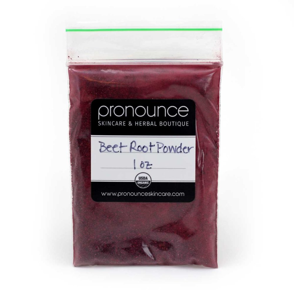 1 oz bag of organic beet root powder - Pronounce Skincare and Herbal Boutique