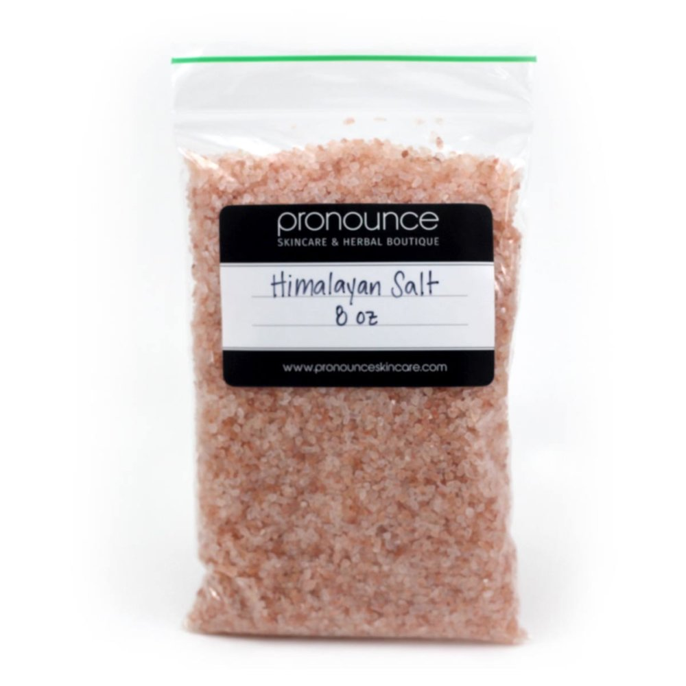 8 oz bag of Himalayan salt- Pronounce Skincare and Herbal Boutique