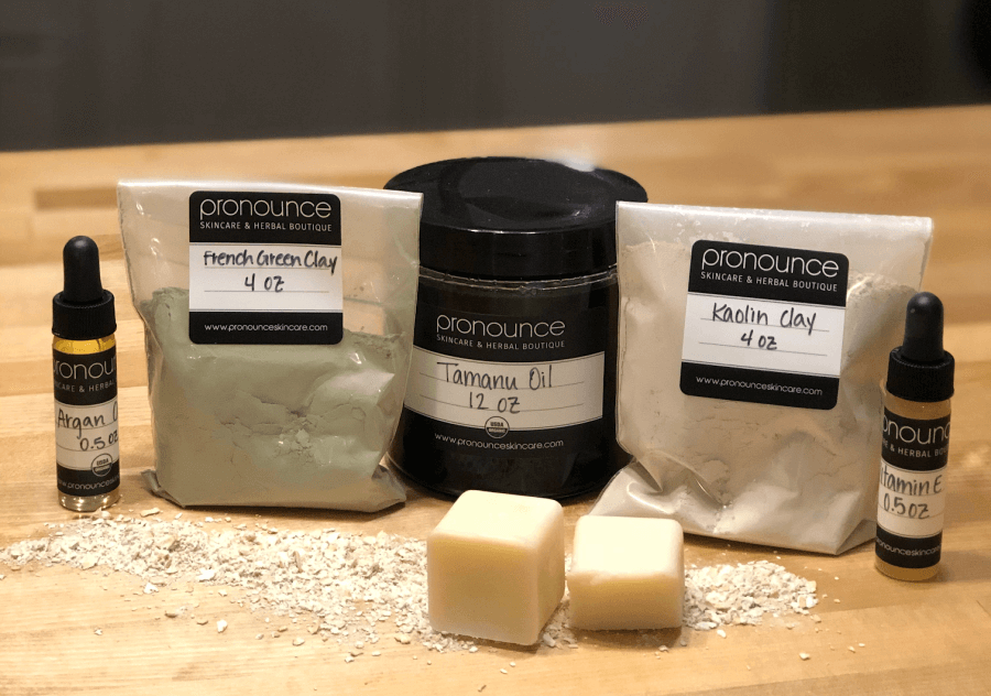 Here are some of the power-packed ingredients in our DIY detox face bar. Clays, oils, butters...all nourishing and detoxifying...from nature herself!